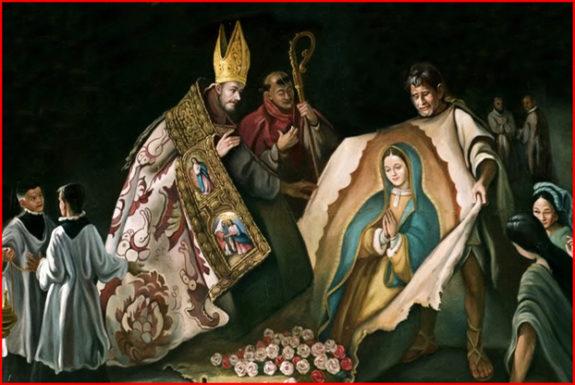 Juan Diego before the Bishop - Artist Undetermined